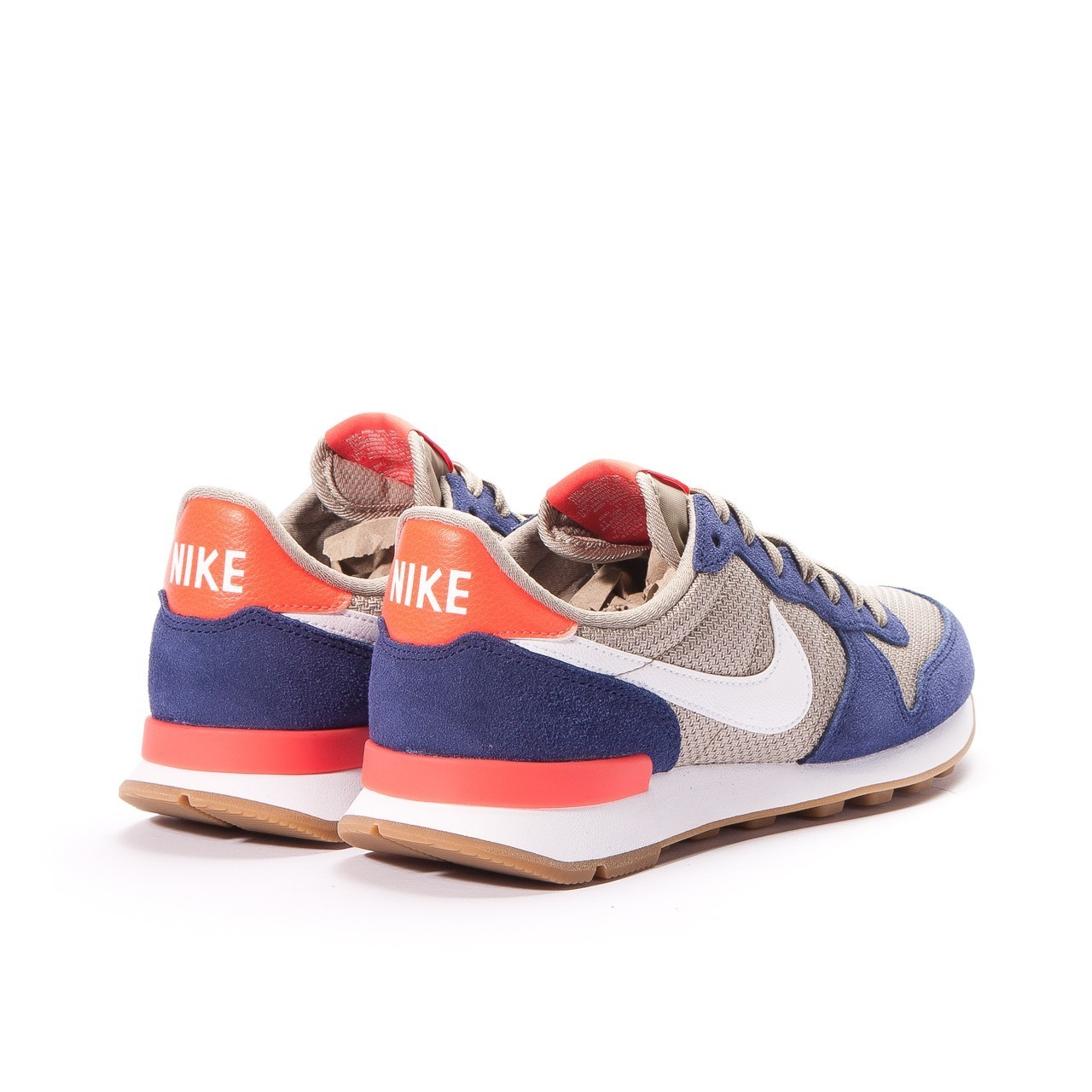 nike internationalist femme marron et or