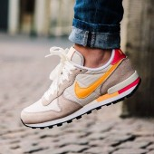 Vente nike internationalist rose jaune et grise destockage 33159