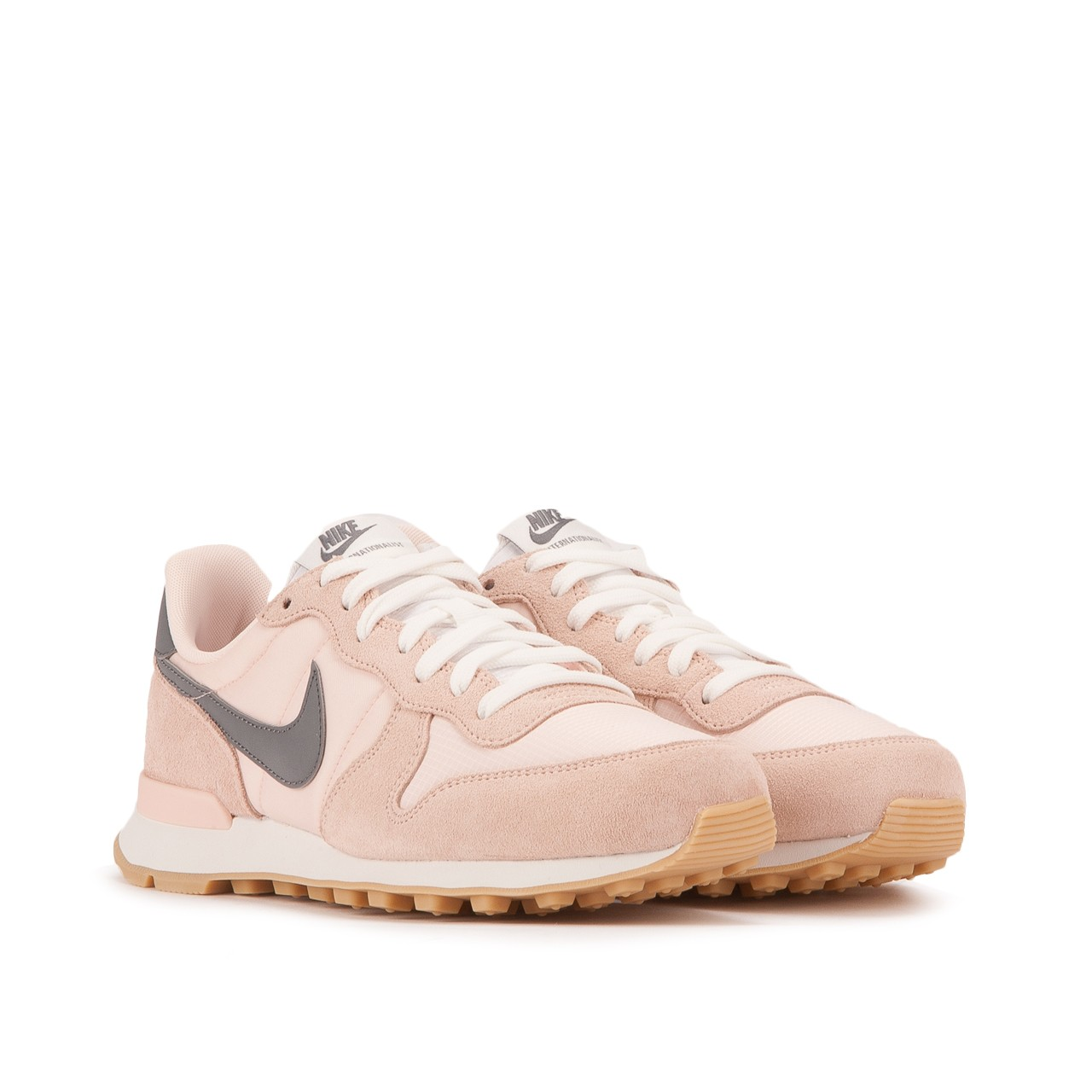 nike internationalist femme beige doré